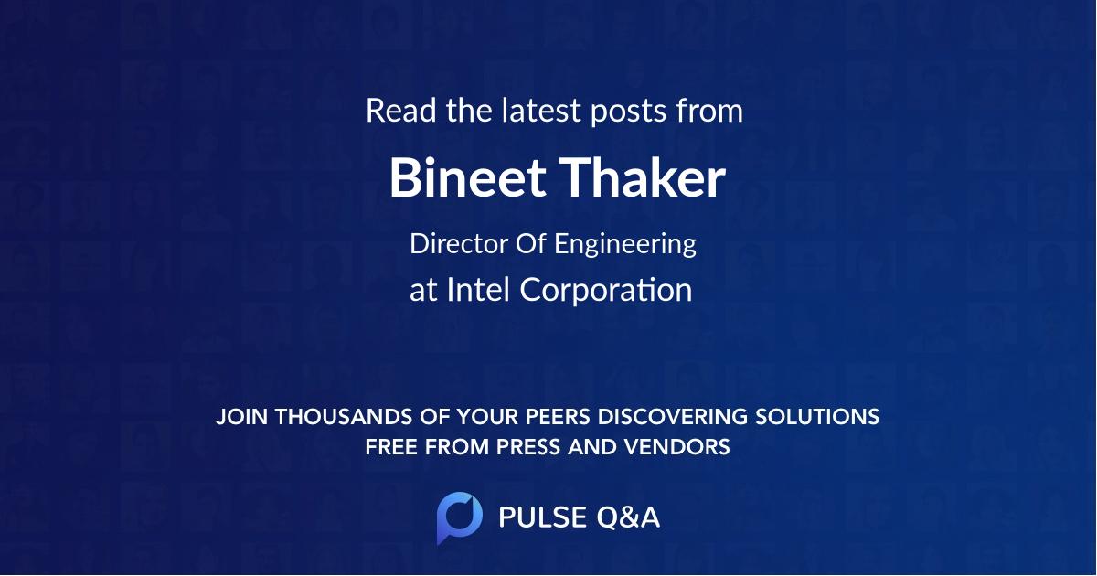 Bineet Thaker