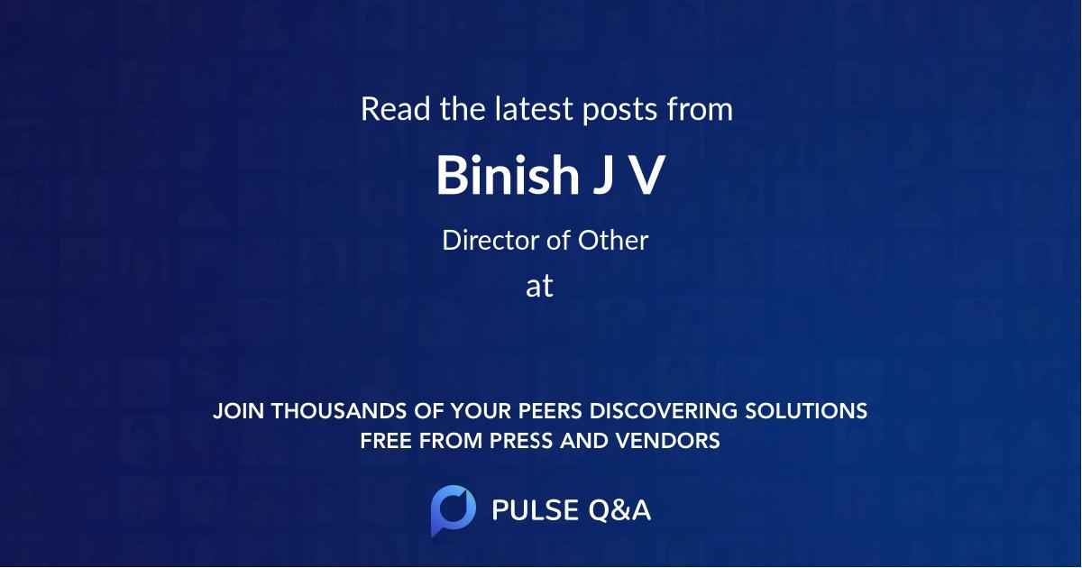 Binish J V