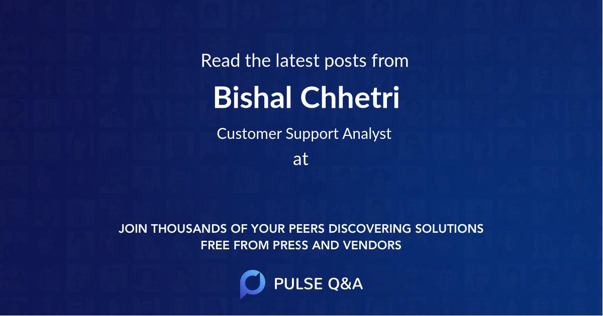 Bishal Chhetri