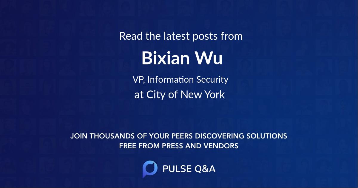 Bixian Wu