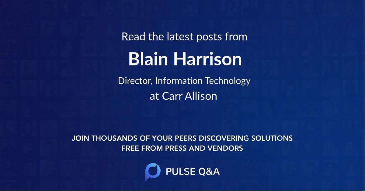 Blain Harrison