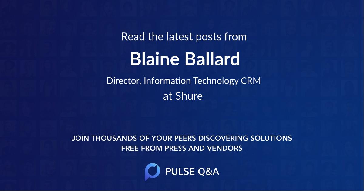 Blaine Ballard