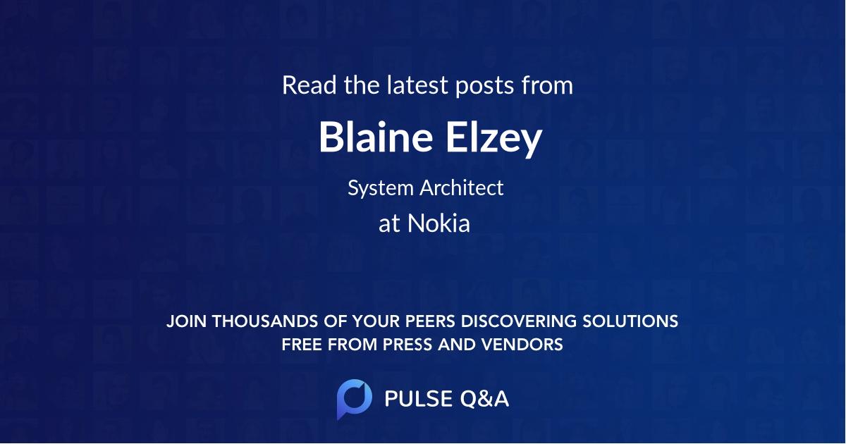 Blaine Elzey