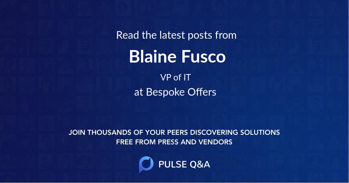 Blaine Fusco