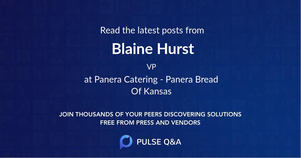 Blaine Hurst