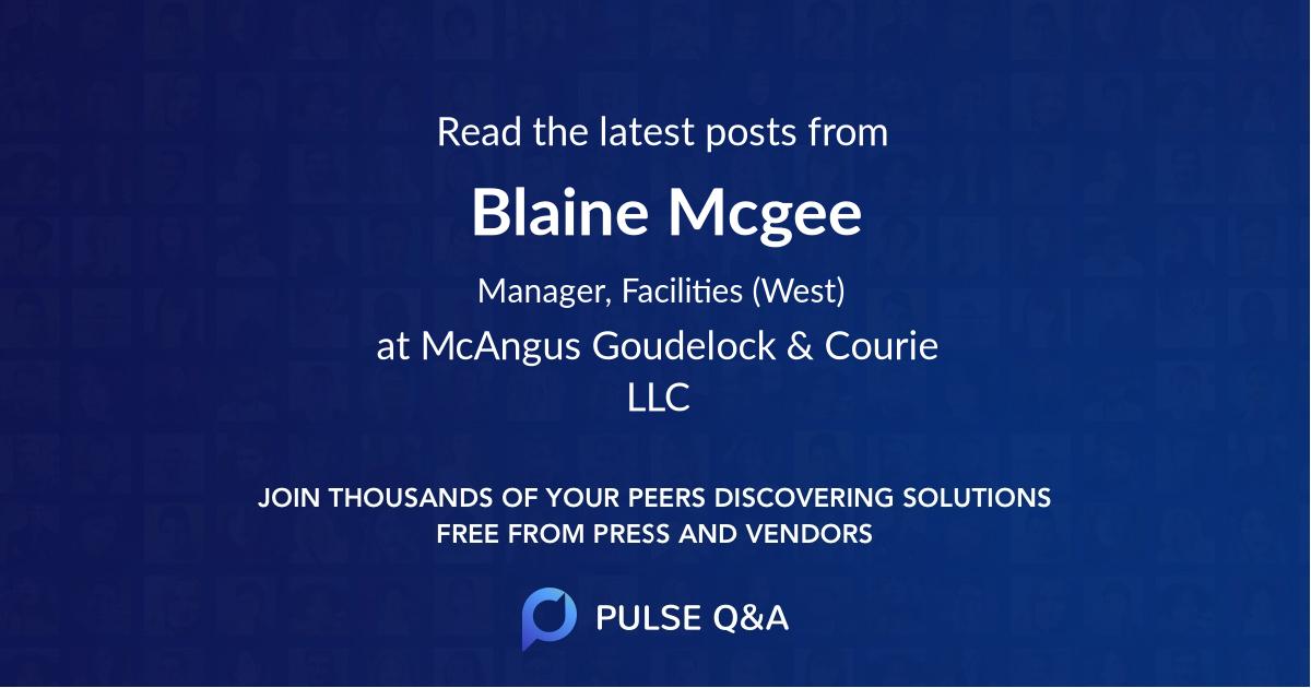Blaine Mcgee