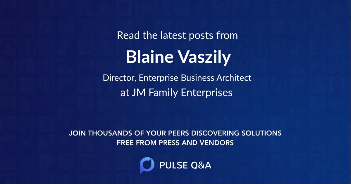 Blaine Vaszily