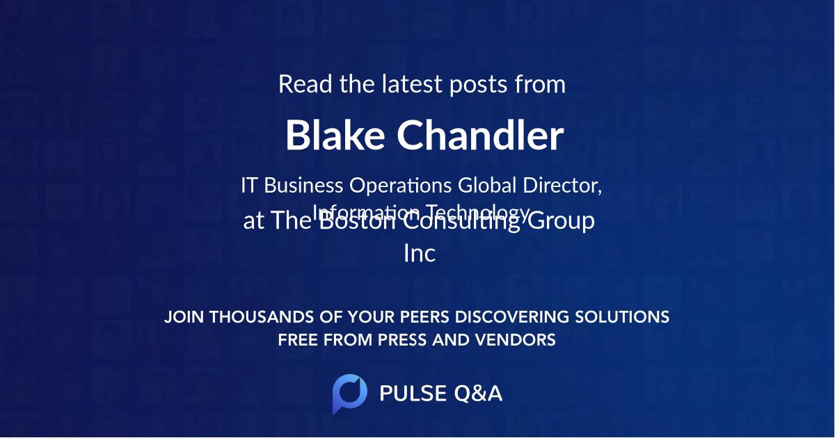 Blake Chandler