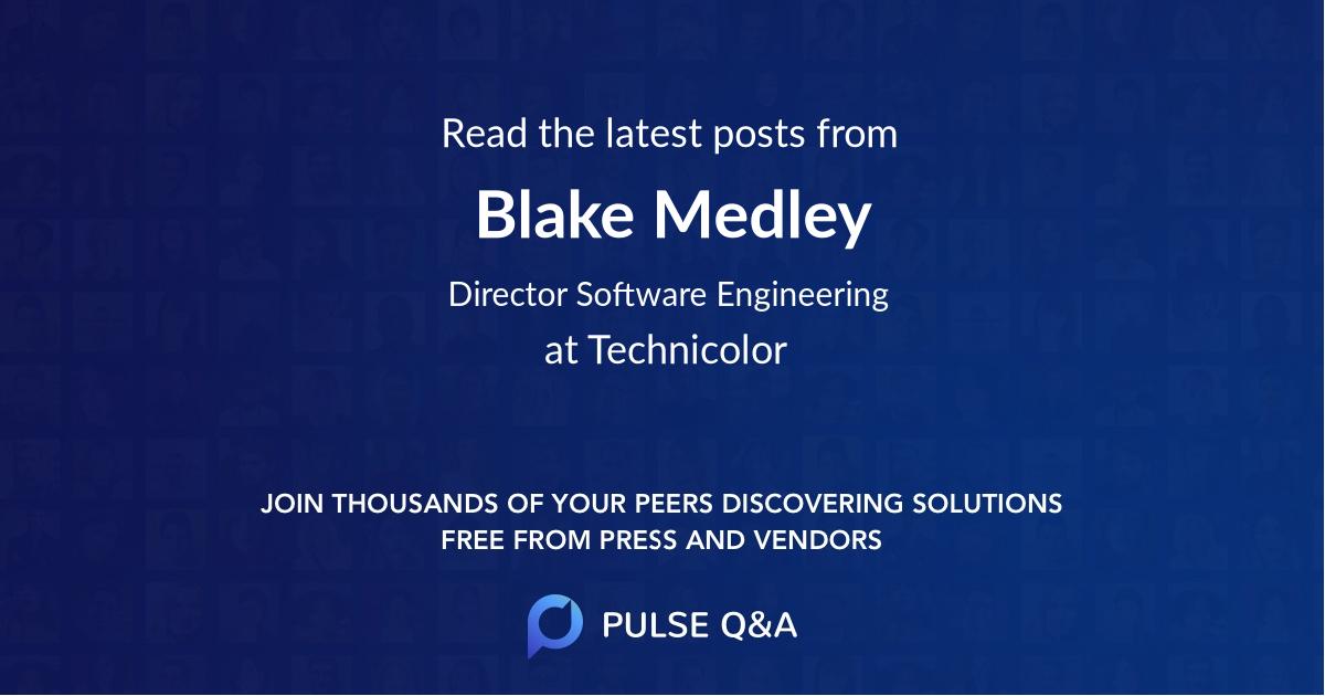 Blake Medley