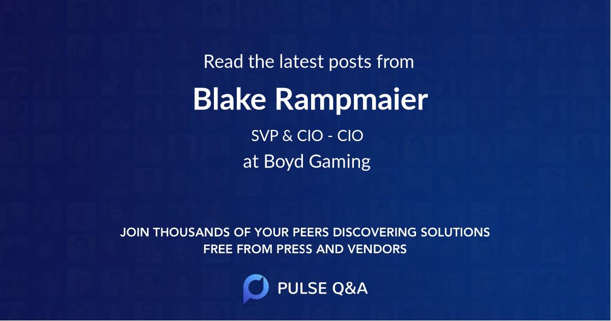Blake Rampmaier