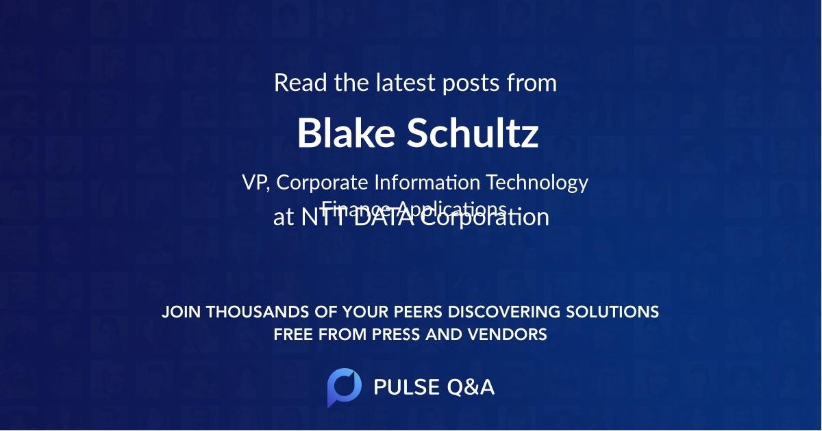Blake Schultz