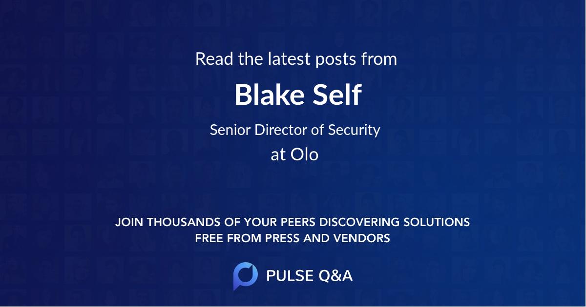 Blake Self