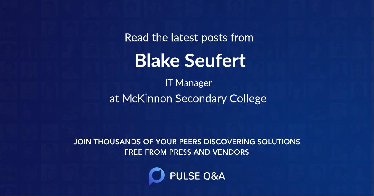 Blake Seufert