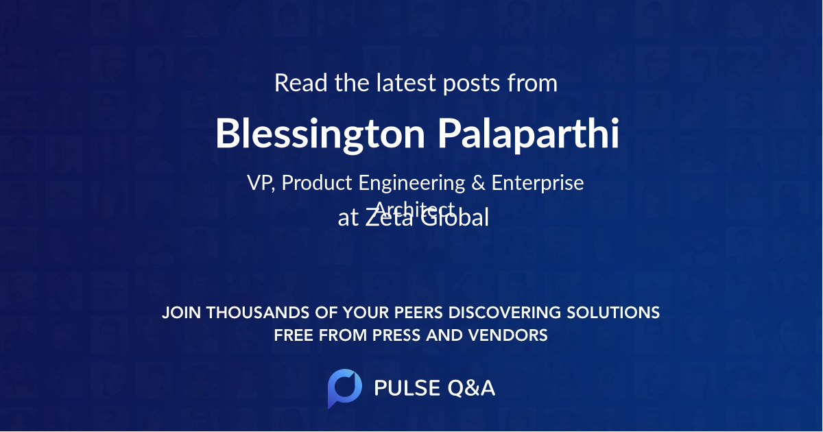 Blessington Palaparthi