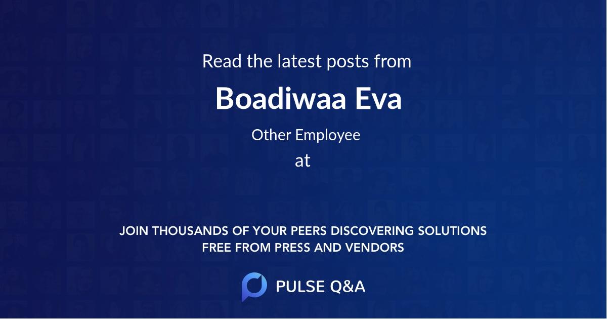 Boadiwaa Eva