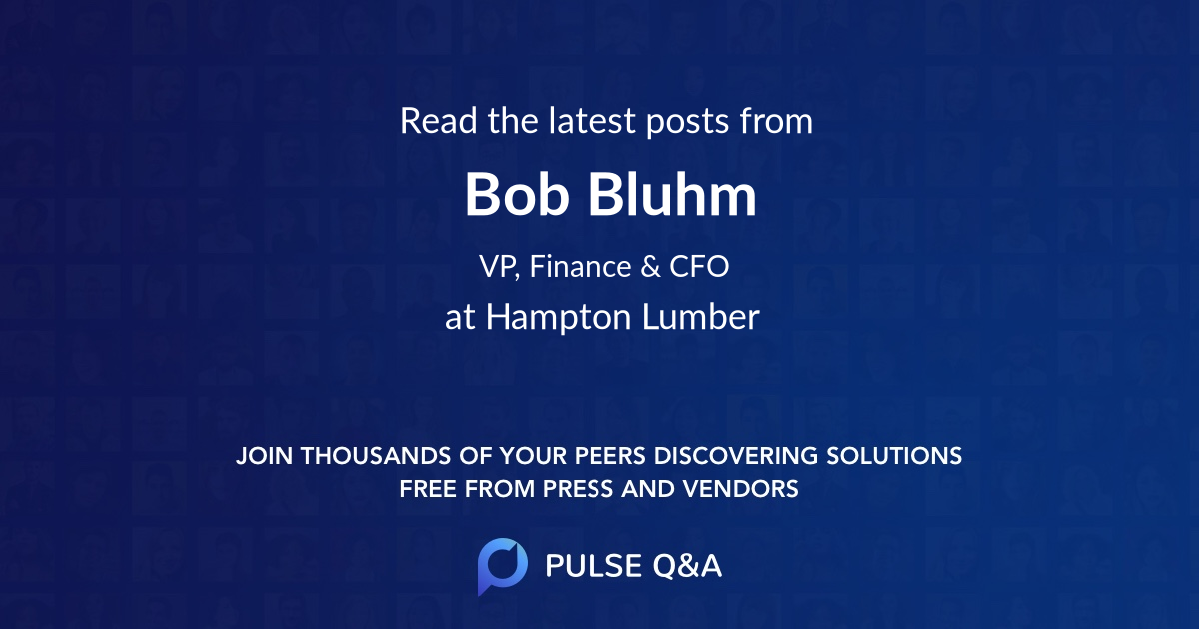 Bob Bluhm