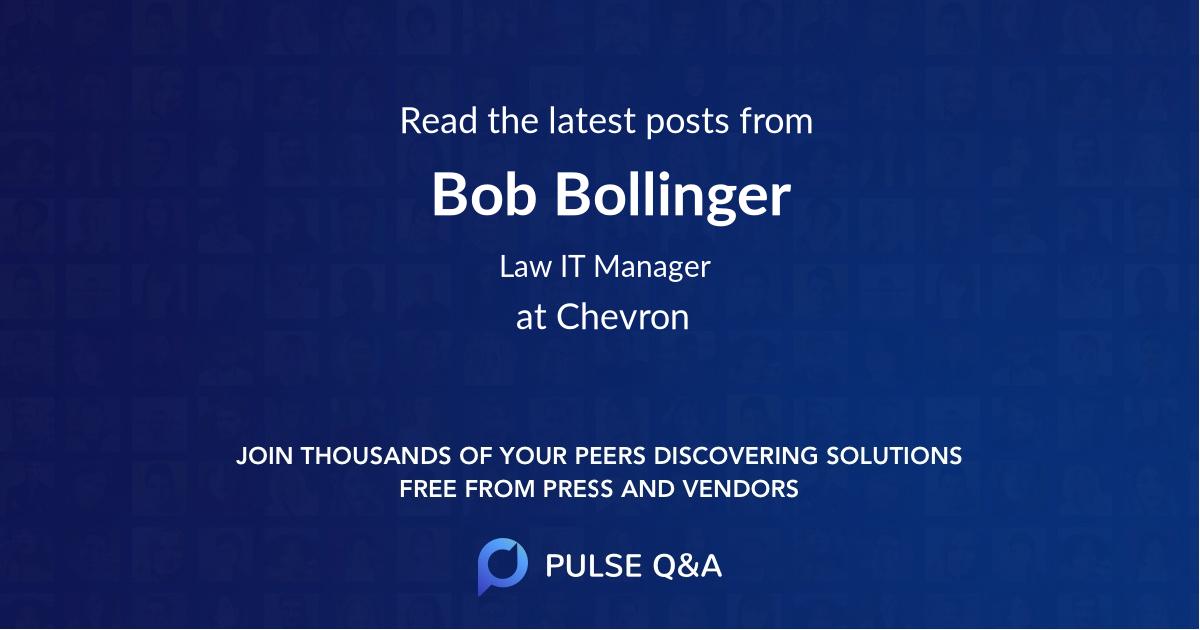 Bob Bollinger