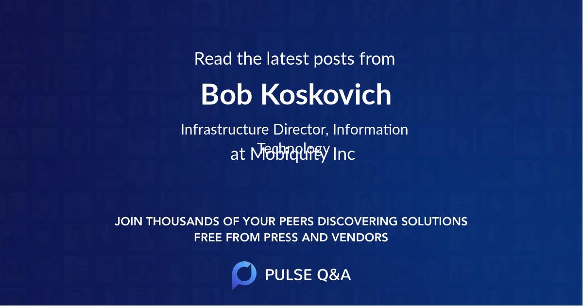 Bob Koskovich