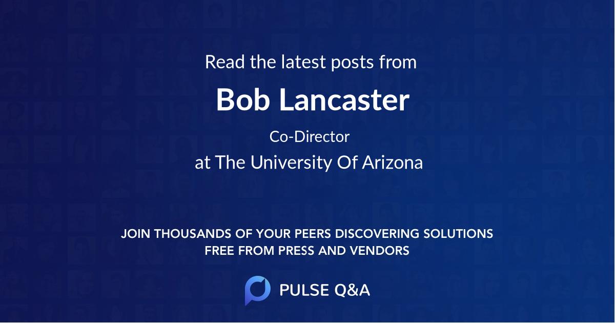 Bob Lancaster