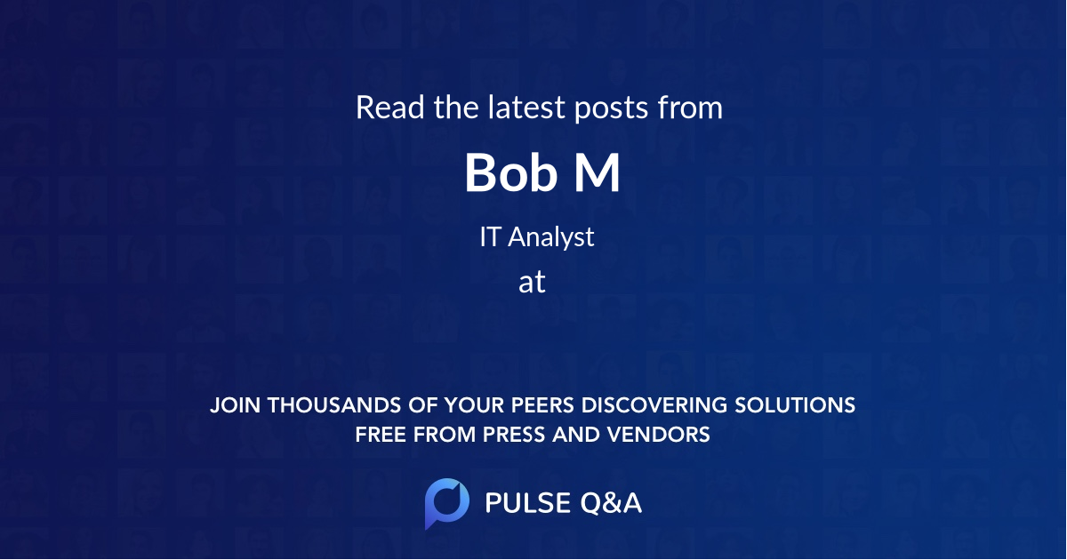 Bob M