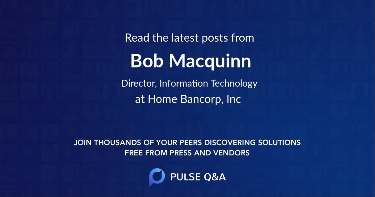 Bob Macquinn