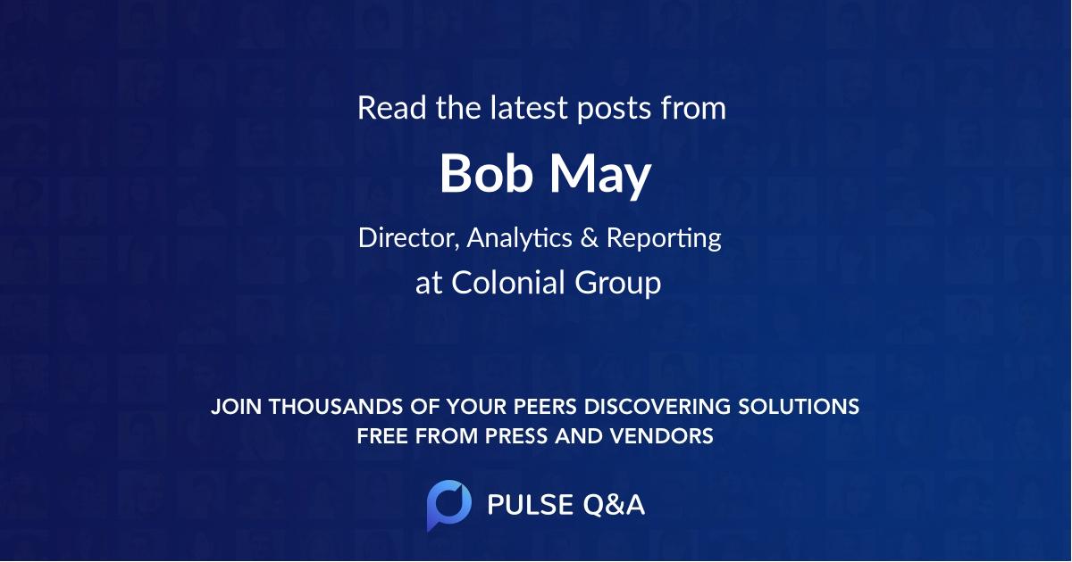 Bob May