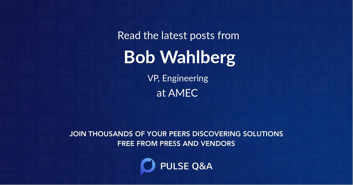 Bob Wahlberg