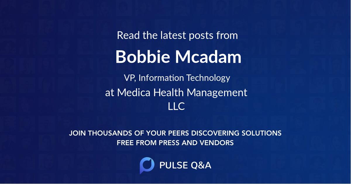 Bobbie Mcadam