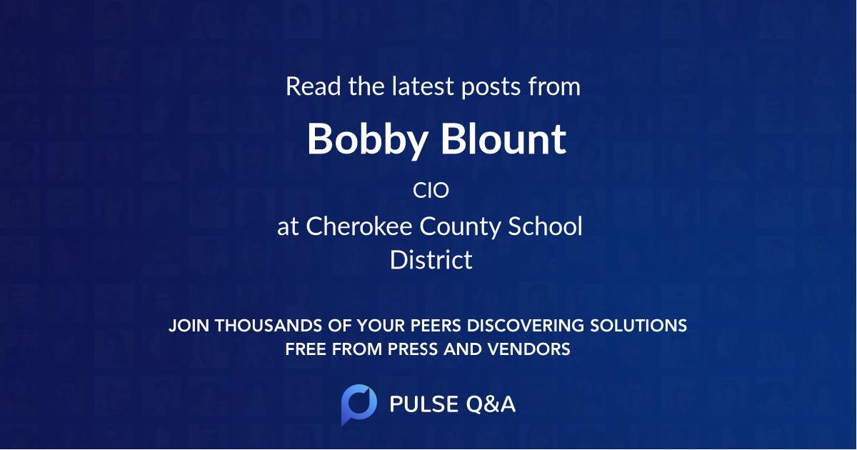 Bobby Blount