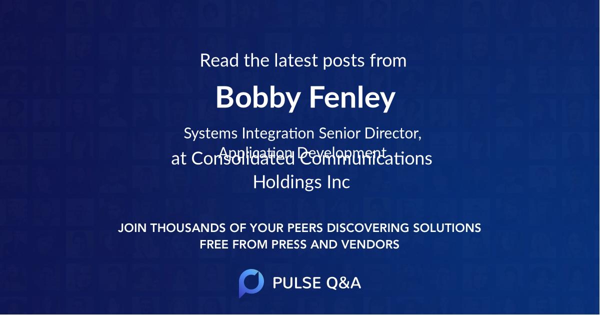 Bobby Fenley