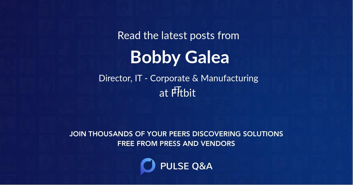 Bobby Galea