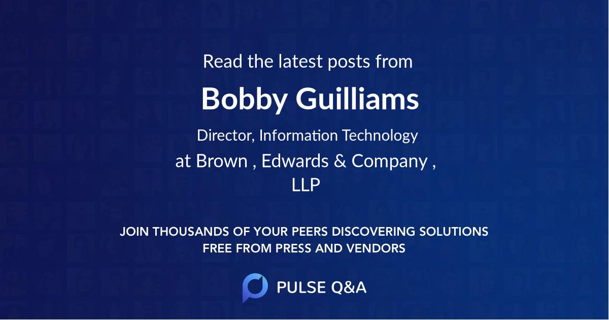 Bobby Guilliams
