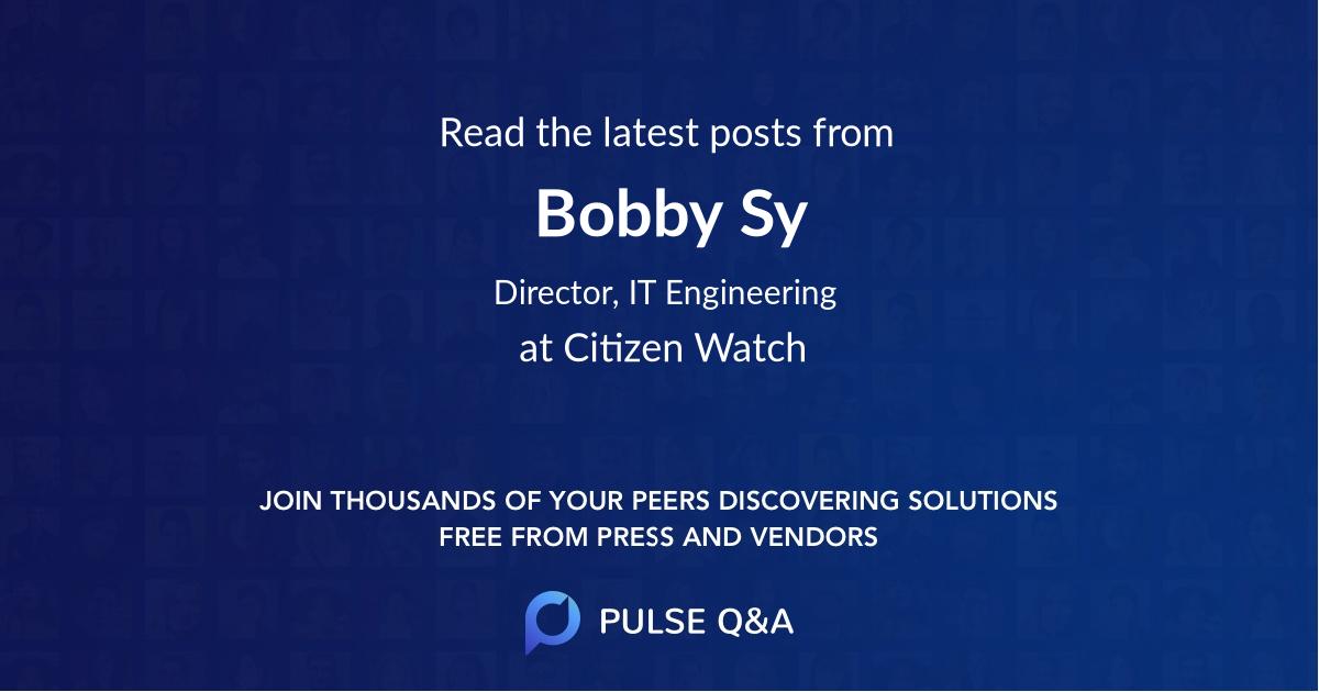 Bobby Sy