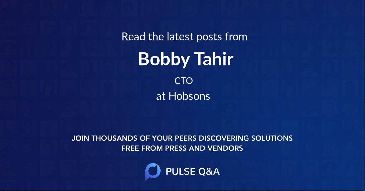 Bobby Tahir