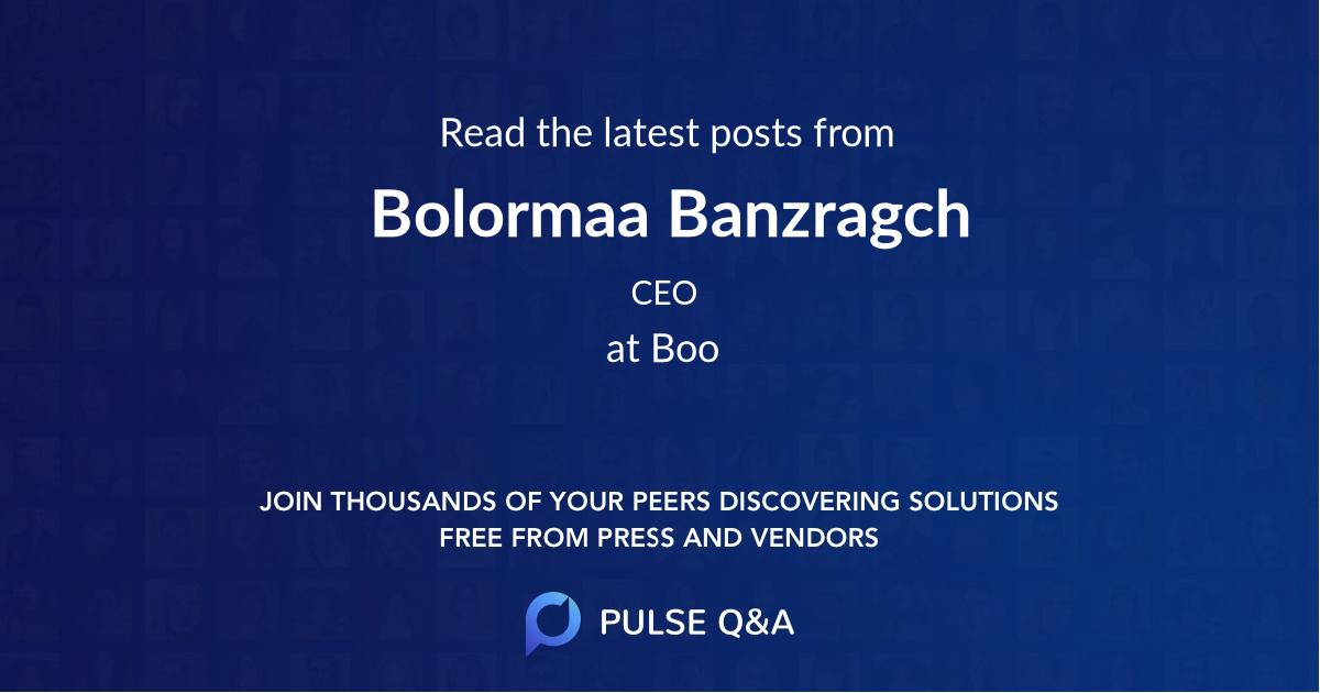 Bolormaa Banzragch