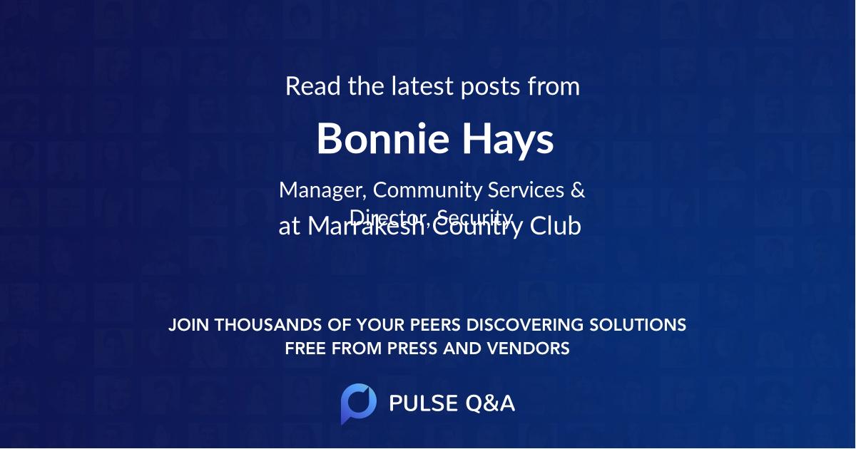 Bonnie Hays