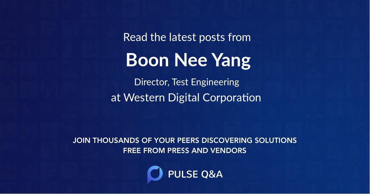 Boon Nee Yang