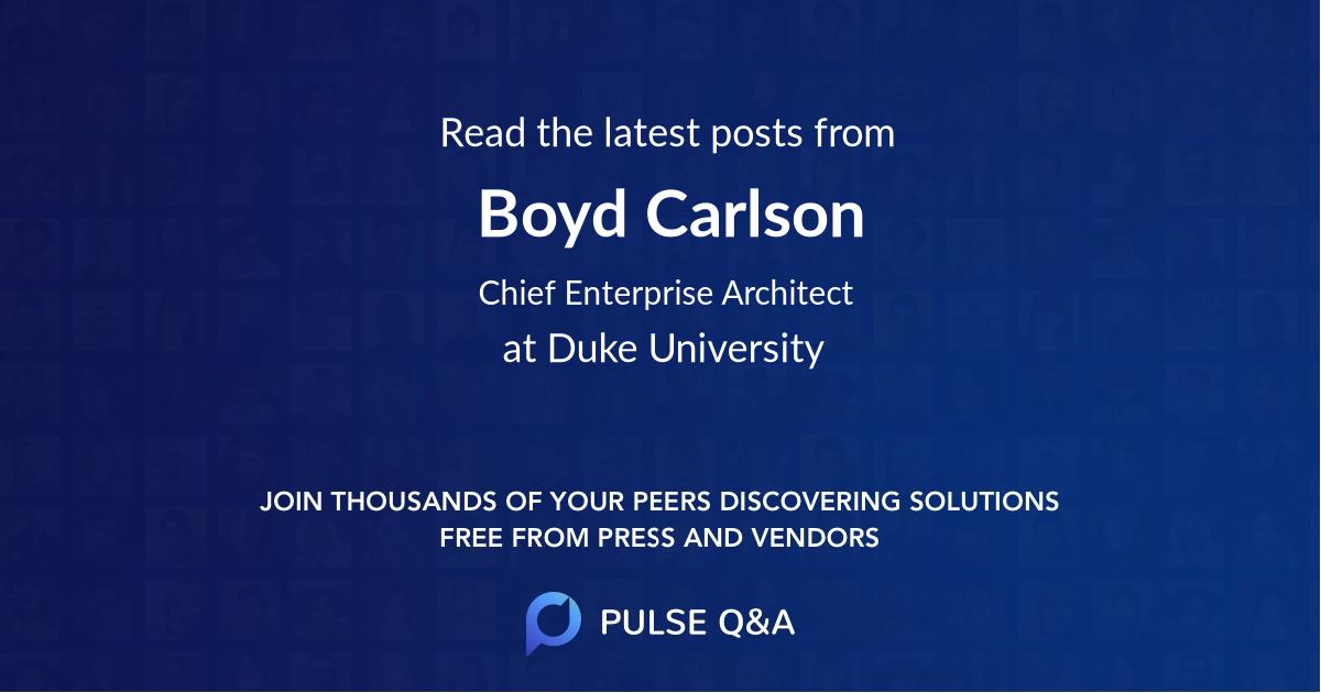 Boyd Carlson