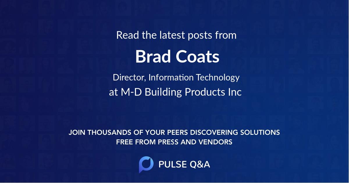 Brad Coats