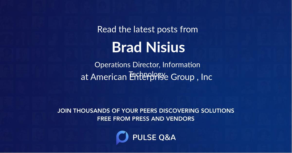 Brad Nisius