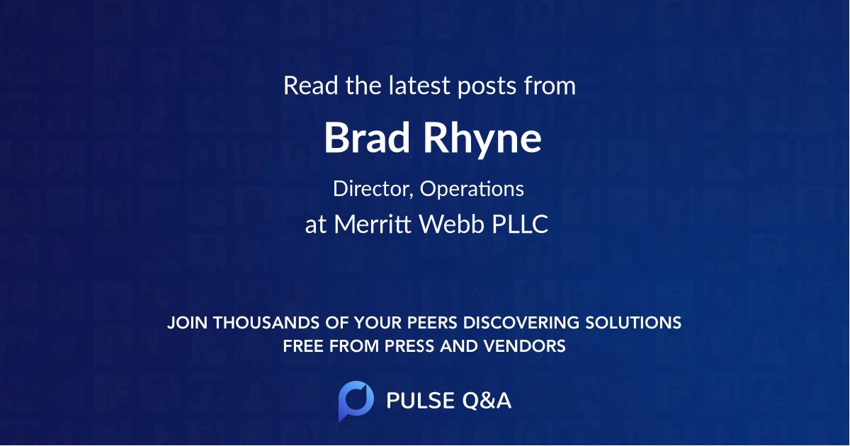 Brad Rhyne