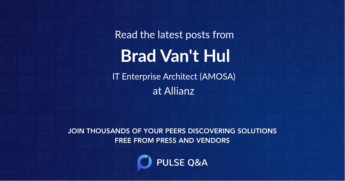 Brad Van't Hul