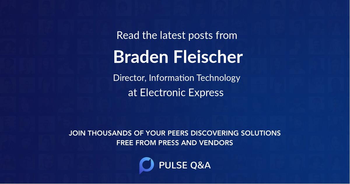 Braden Fleischer