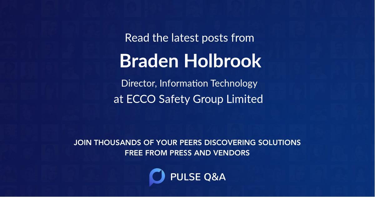Braden Holbrook