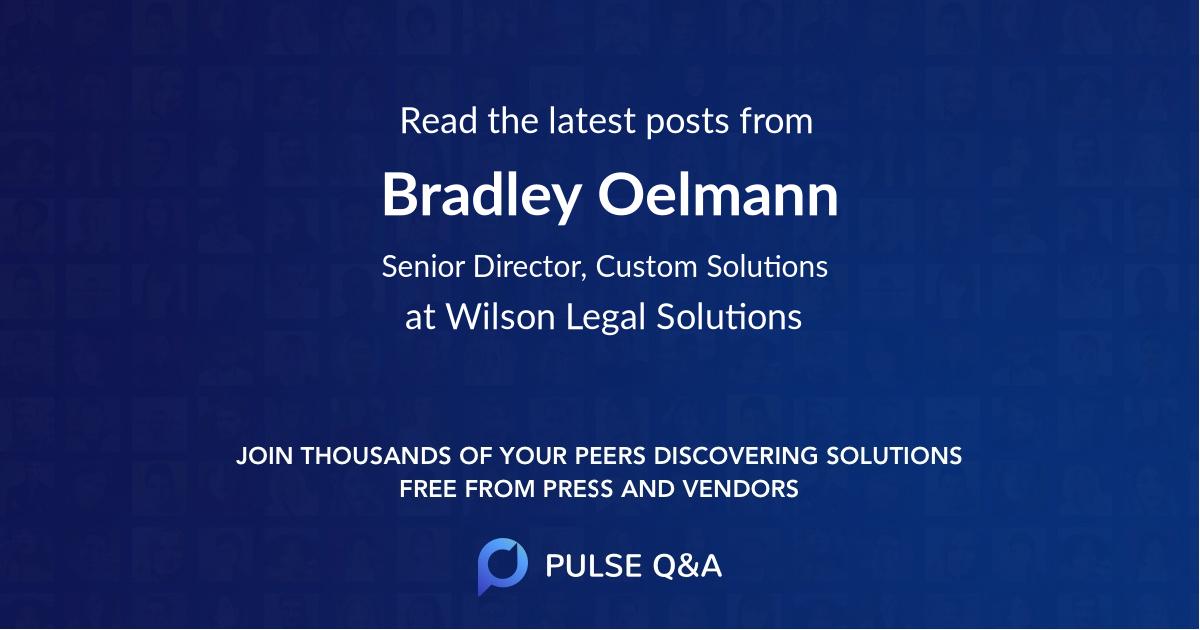 Bradley Oelmann