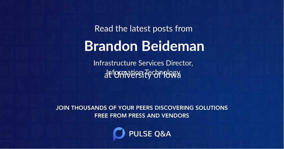 Brandon Beideman