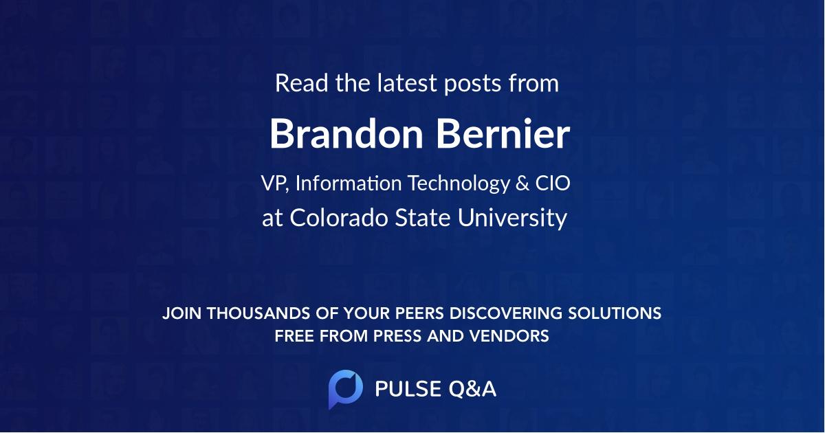 Brandon Bernier