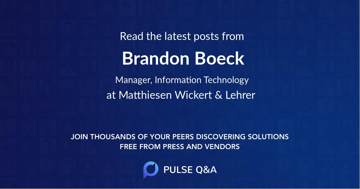 Brandon Boeck
