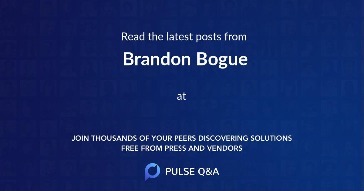 Brandon Bogue