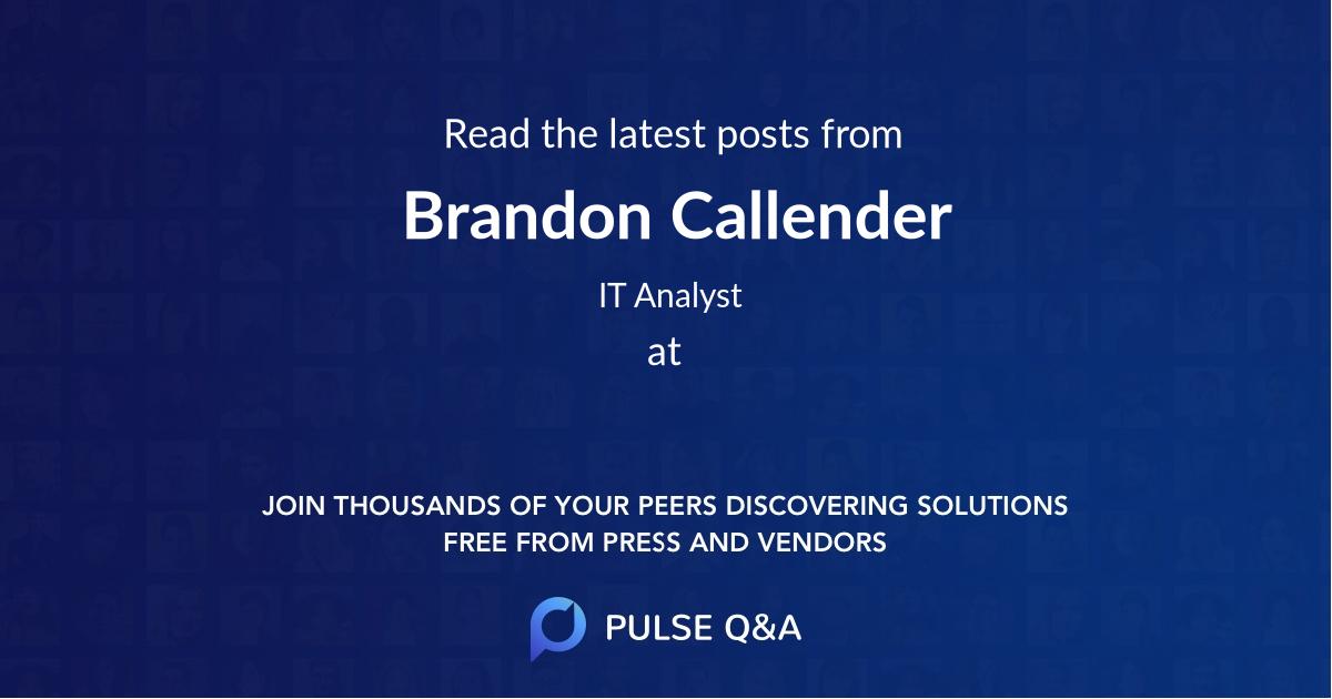 Brandon Callender